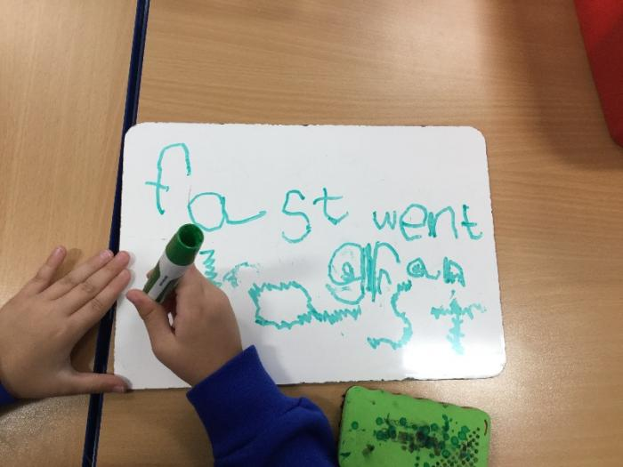We can write our spelling words in different ways.