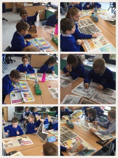 Investigating features of newspaper reports