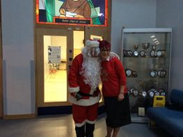 Santa Visits St Clare's Abbey.