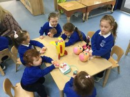 Nursery Children Bring A Toy To School