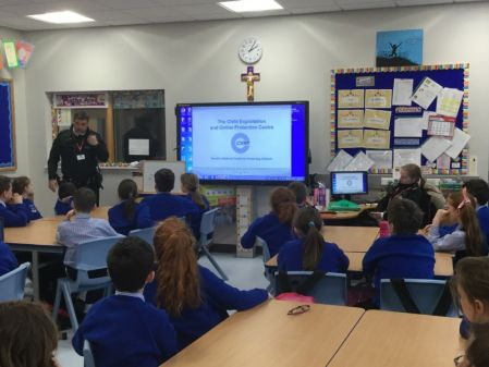 Safer Internet Day visit from the PSNI.